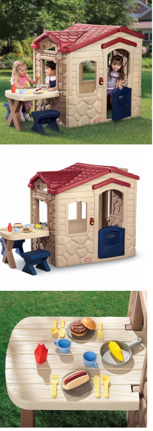 Permanent Playhouses 145995: Little Tikes Picnic Playhouse Backyard Patio  Outdoor Fun Kids Pretend  U003e