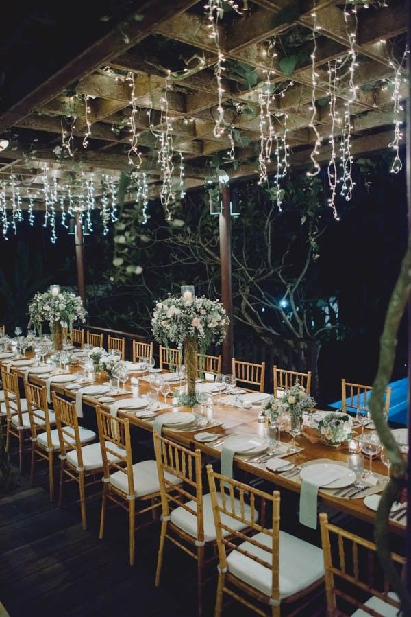 Bohemian chic bali wedding at puri wulandari hanging for Bali wedding decoration hire