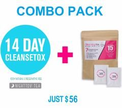 15 day Superfoods Tea + 14 Day CleanseTox - Combo Pack