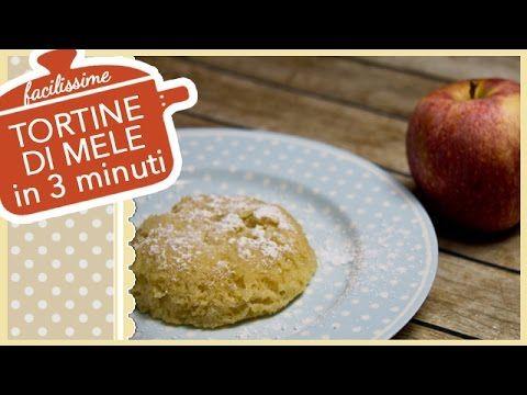 TORTINE DI MELE IN 3 MINUTI (compresa cottura) | Torta di Mele in Tazza ...