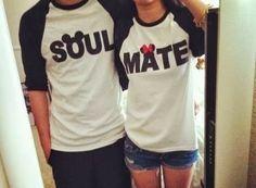 camisetas personalizadas para parejas soul mate - Buscar con Google                                                                                                                                                                                 Más