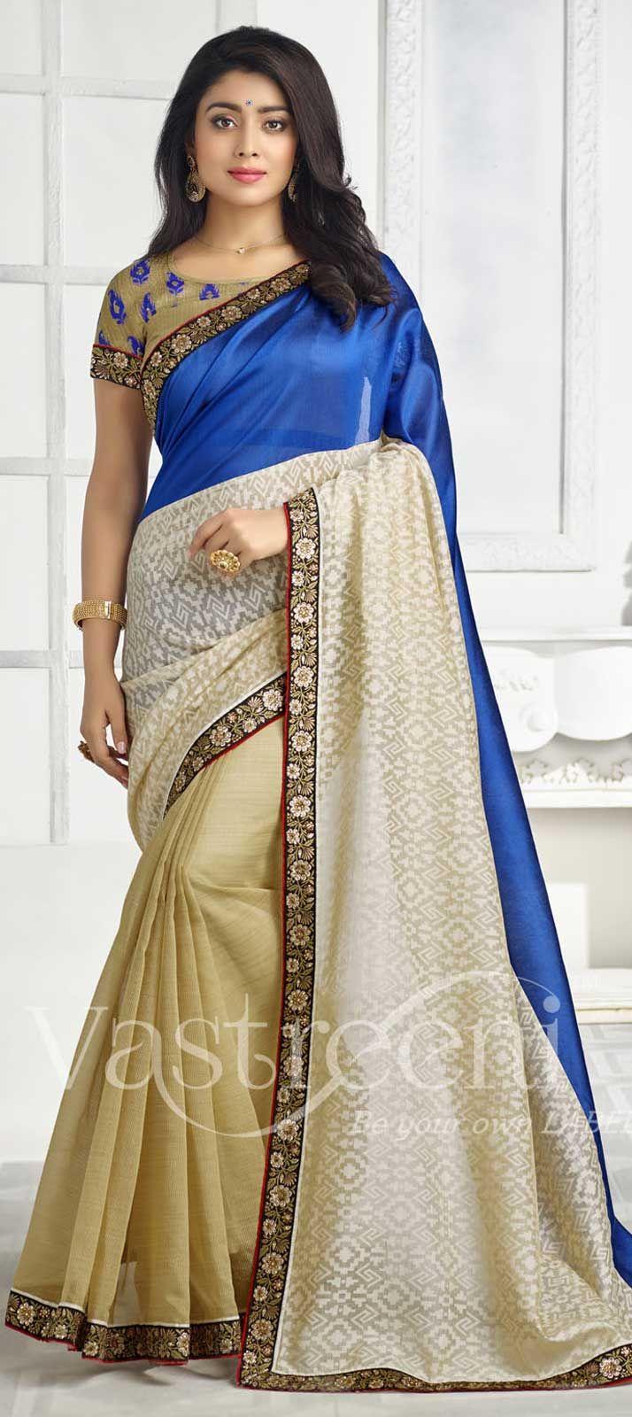 Blue color family Bollywood sarees .