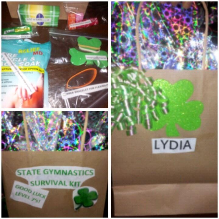 Gymnastics goody bag/ survival kit | Gymnastics | Pinterest