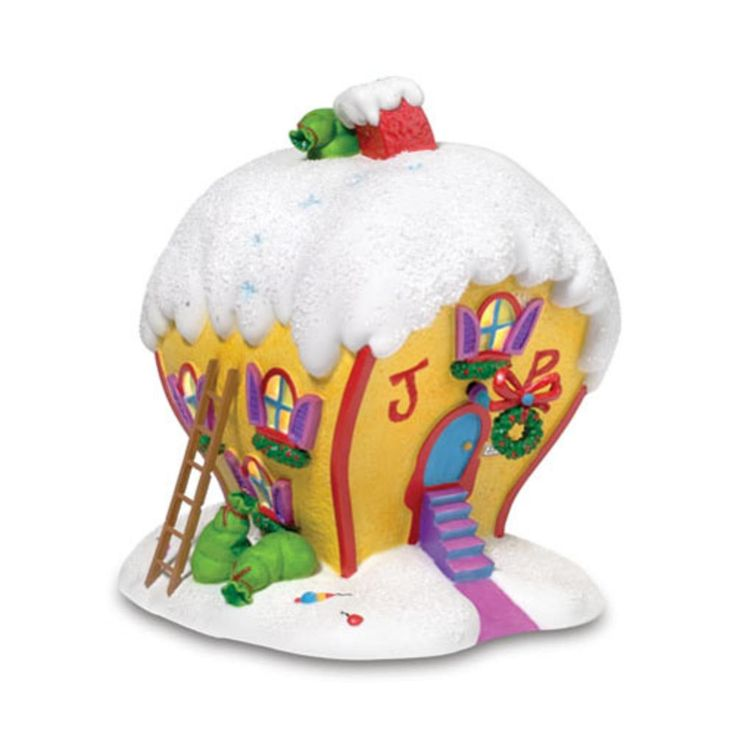 Department 56 Dr Seuss Grinch 'Cindy Lou Who's House' Christmas Lighted Building ** Awesome product. Click the image : Decor Collectible Buildings and Accessories