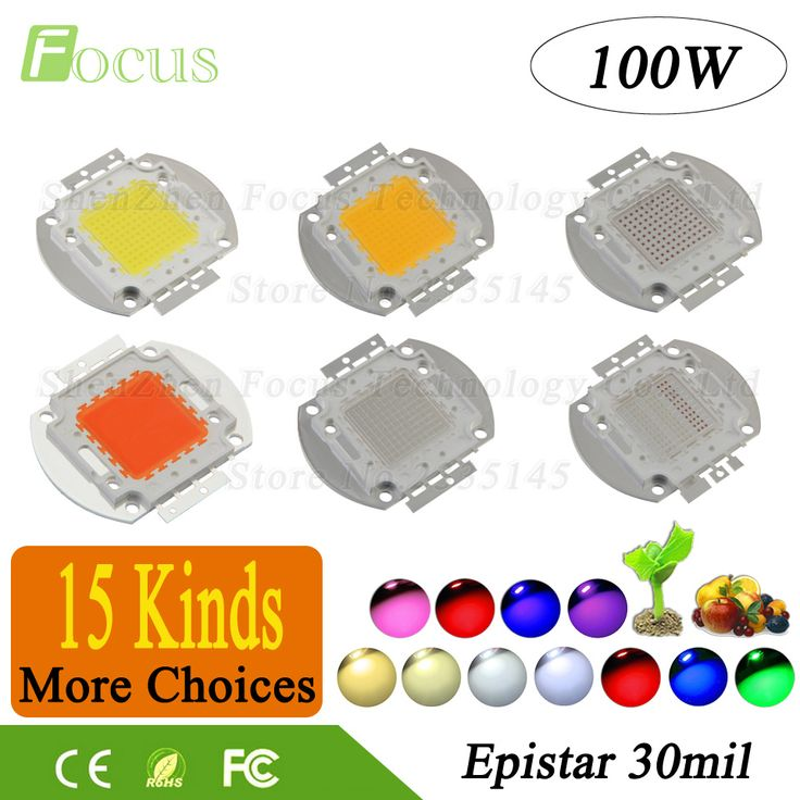 Promo High Power Led Chip Cob 100W Diode Natural Cool Warm White Yellow Rgb Red Green Blue Full Spectrum #Light #Blue #Rgb