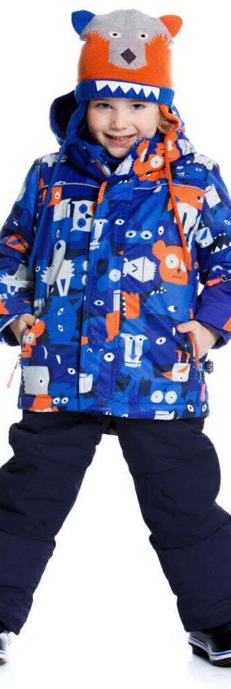 Boys Wolf Designer Blue Snowsuit.