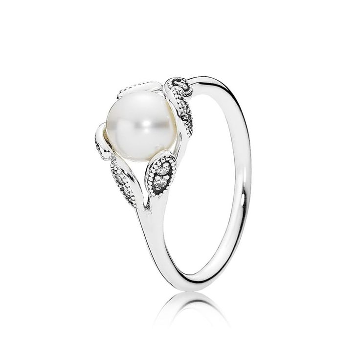 Pandora Luminous Leaves Pearl Ring 190967P Sale UK