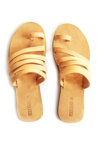 Sekon Nubuck Leather Sandal. Hand-stitched by Maasai artisans in Kenya.