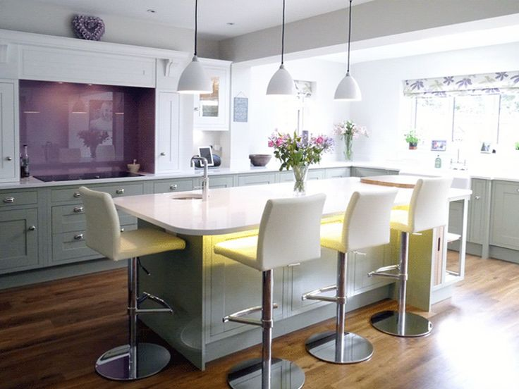 Great example of an in-frame Sheraton painted kitchen in Sage Grey & White.  More pics can be see at http://www.sheratonkitchens.co.uk/blog/traditional-in-frame-kitchen-in-painted-sage-grey-white