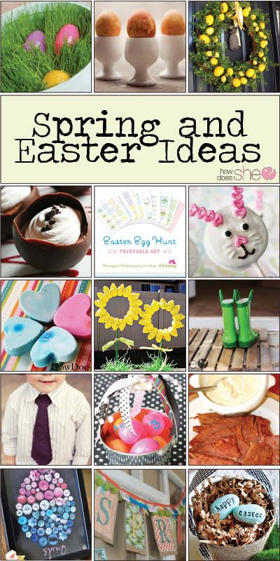Over 50 Spring & Easter Ideas! Includes crafts, recipes, printables, treats, decor, home decor, diy projects, traditions and more! #spring #easter #holidays howdoesshe.com