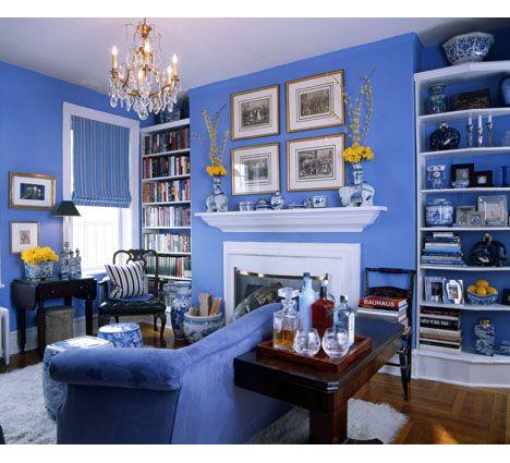 Un tocco classico al tuo salotto: il #blu conferisce eleganza e semplicità.