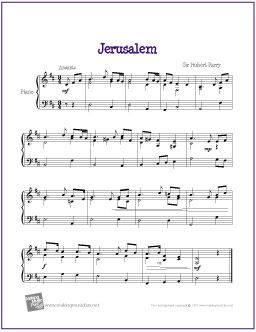 jerusalem royal wedding music free sheet music for easy piano http