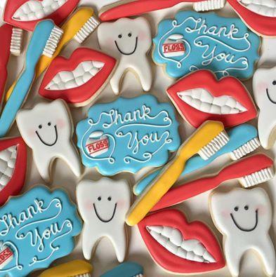dental dentist thank you cookies