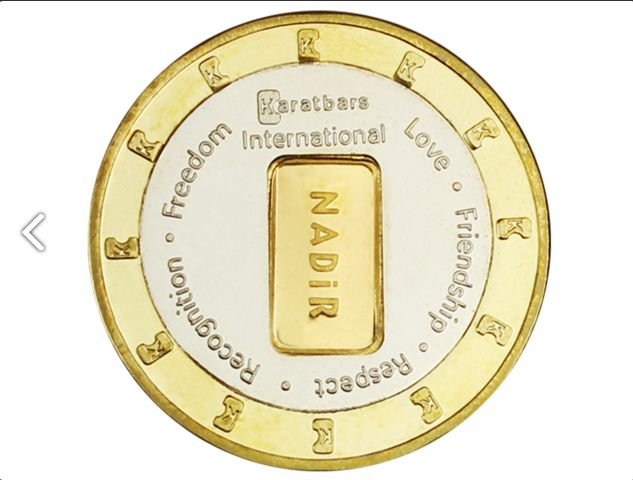 Karatbars Coin It's in!!!! Order yours today! Product Size: • DiameterØ 35.1mm •Thickness Approx. 2.2mm Product Material: Colored outer ringBrass MS 63 Silver inner ringNickel Silver Gold middle1.0g 999.9 gold Supplied by Nadir Exclusively available for purchase at Karatbars International NOTICE: This product will only be available for delivery from the 1st of January, 2015. Get it Now for just $82.19