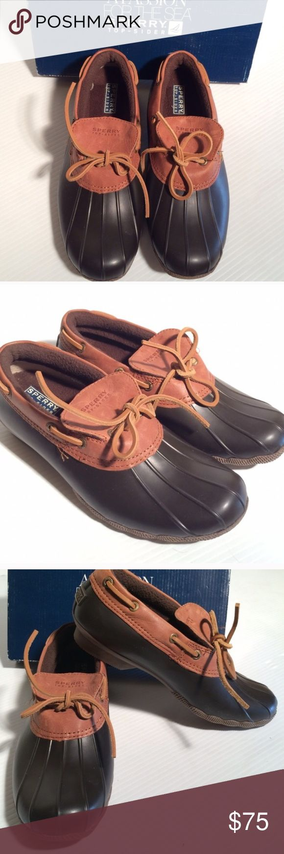 NWT Sperry Duck Rain Boots BROWN New in box. Sperry Top Sider boots. Perfect for rainy and winter days!  Size 7. Sperry Top-Sider Shoes Winter & Rain Boots
