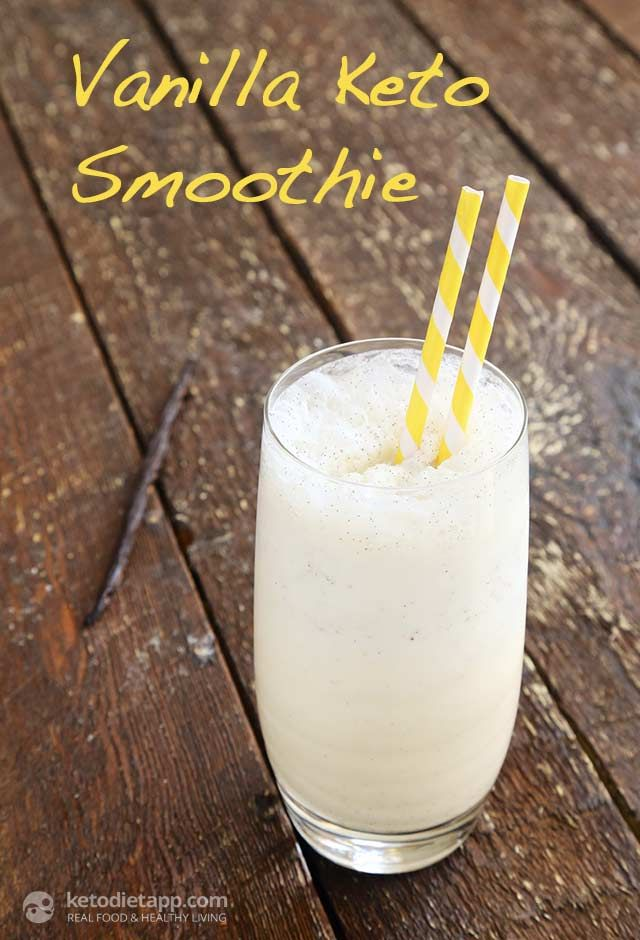 Vanilla Keto Smoothie (low-carb, paleo and super easy!)