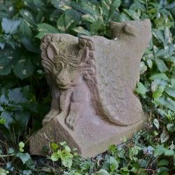 Winged Griffin, Carved From Mansfield Red Sandstone