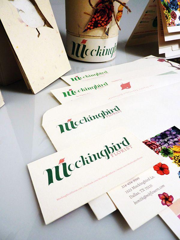 Mockingbird Florist - Visual Identity on The Art Institutes Portfolios
