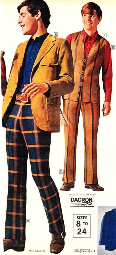 Teen Boys Fashion From A 1970 Catalog 1970s Fashion