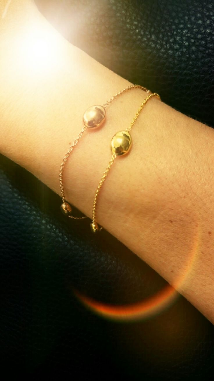 rose and yellow gold bracelets!