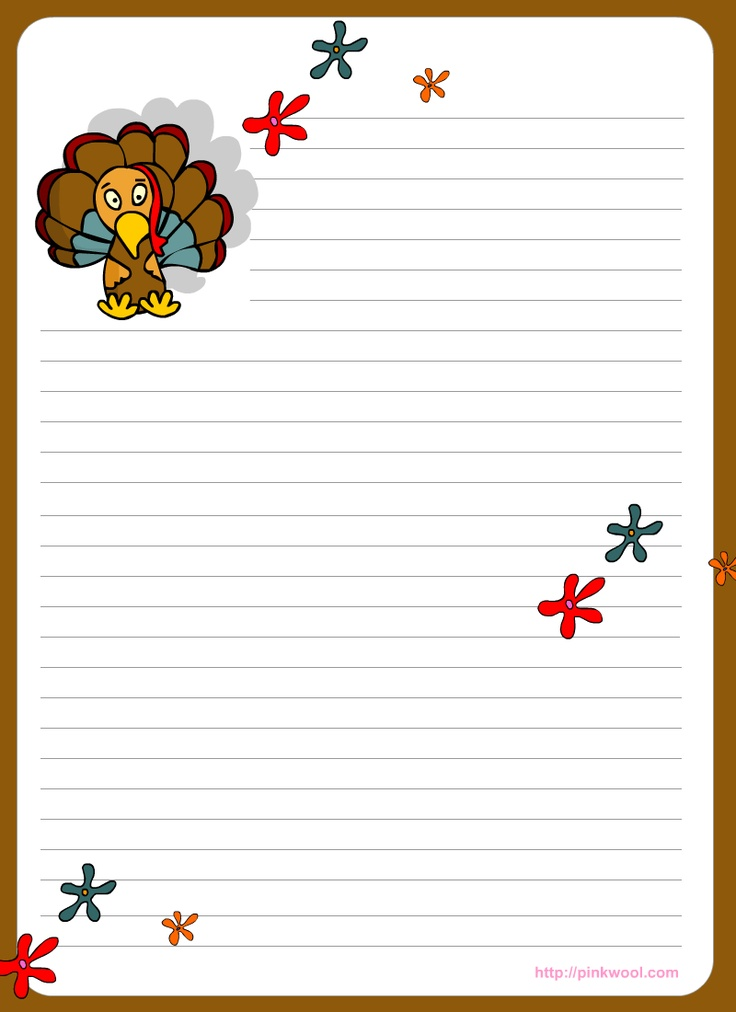 Thanksgiving themed writing paper