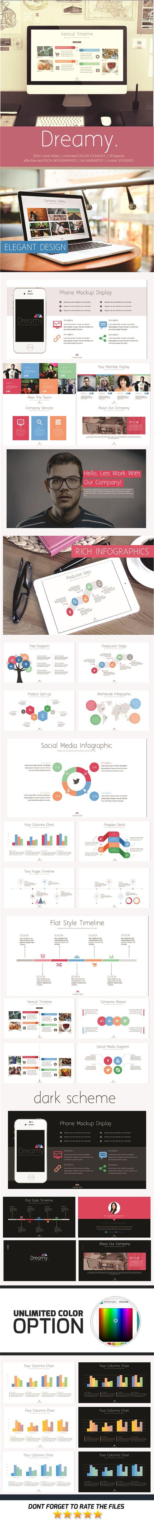 Dreamy PowerPoint Template #slides #design Download: http://graphicriver.net/item/dreamy-powerpoint-template/11948165?ref=ksioks