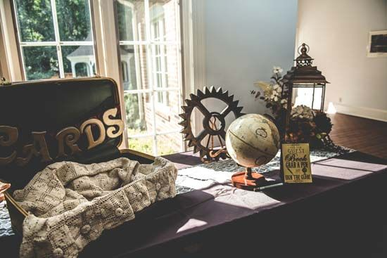 Steampunk Wedding Gifts: Steampunk Victorian Gift Table Decor
