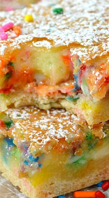 Cake batter gooey bars recipe cake batter cakes and bar for Food bar 1480