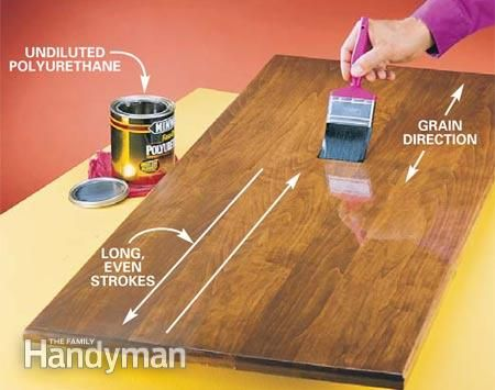 How to Apply Polyurethane  Woodworking  How to apply