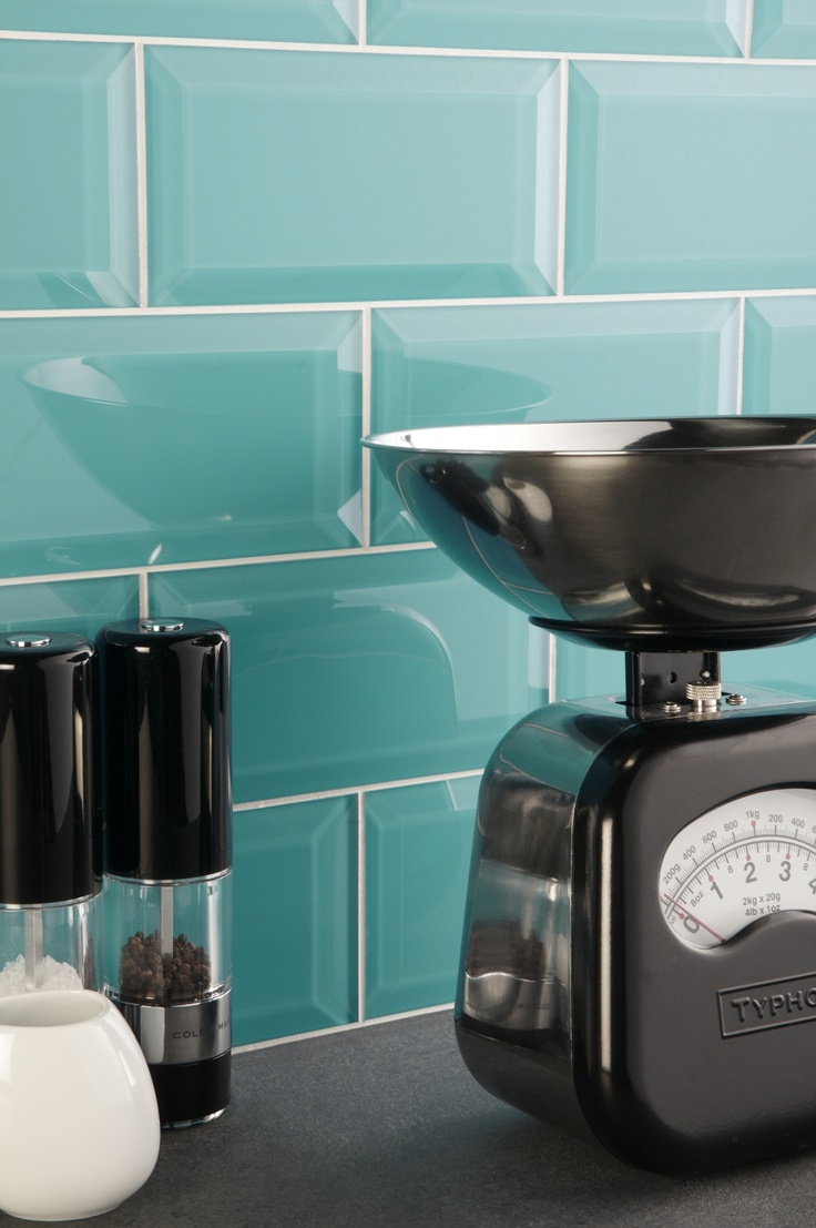 Vibrant, Colorado glass bevelled tiles from the Glassworks collection by Original Style are bang on trend and will freshen up any space