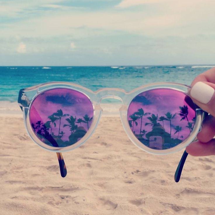 Let the summer begin Cool purple sunglasses. Visit www.beachandbubbles.com for worlwide beaches, clubs & events