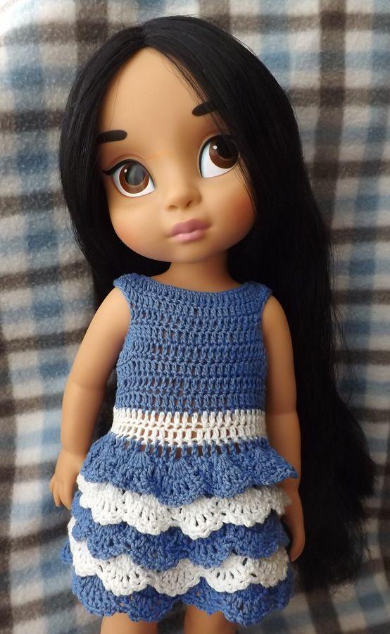 Doll clothes / Disney Animator doll Jasmin / crochet