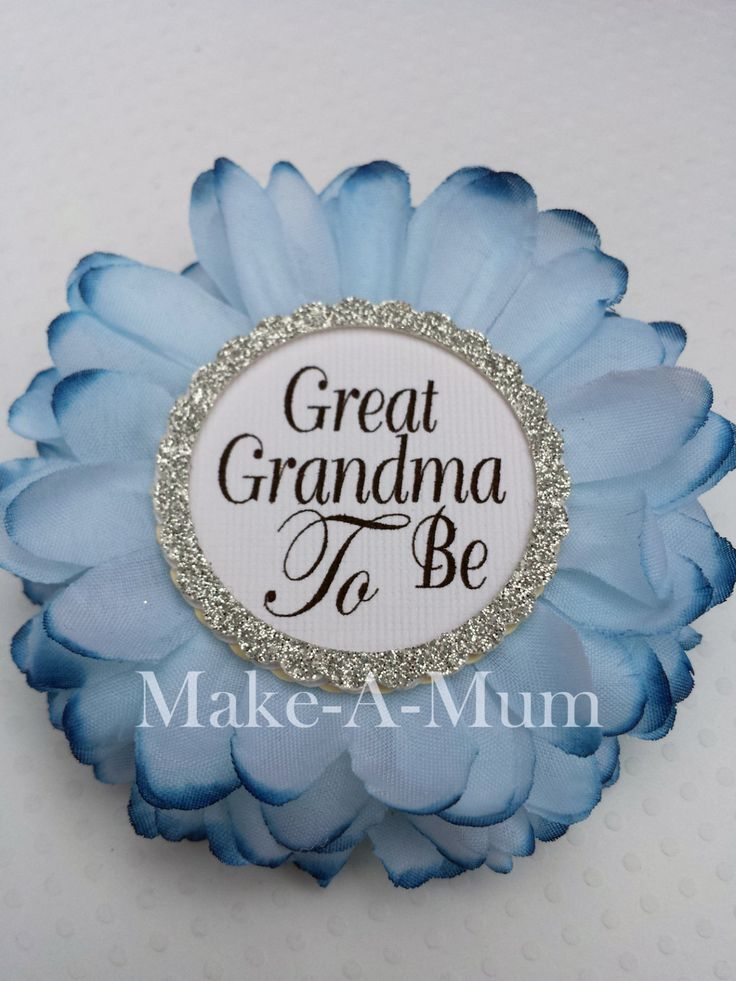 BLUEBONNET Great Grandma Wrist Or Pin, Baby Shower Corsage, Baby Shower  Favors, Grandma To Be Pin, Mommy To Be Pin, BLUEBNT/PAPER/ggtb