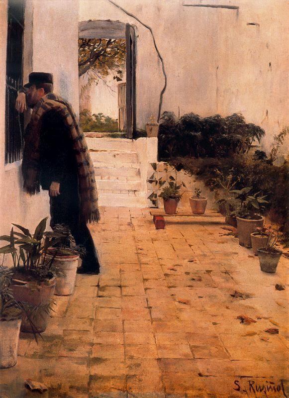 Pelando la pava / Santiago Rusiñol