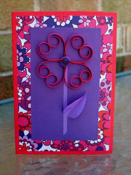Flower Power Quilled Heart Card: I actually made this for my husband this past Valentine's Day and it came out very pretty. He was touched that I took the time to make it for him.