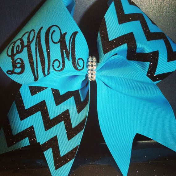 Hey, I found this really awesome Etsy listing at https://www.etsy.com/listing/184319240/monogram-chevron-cheer-bow
