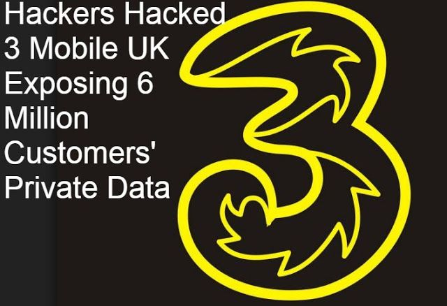 Hackers Hacked 3 Mobile UK Exposing 6 Million Customers' Private Data http://www.2020techblog.com/2016/11/hackers-hacked-3-mobile-uk-exposing-6.html  #tech