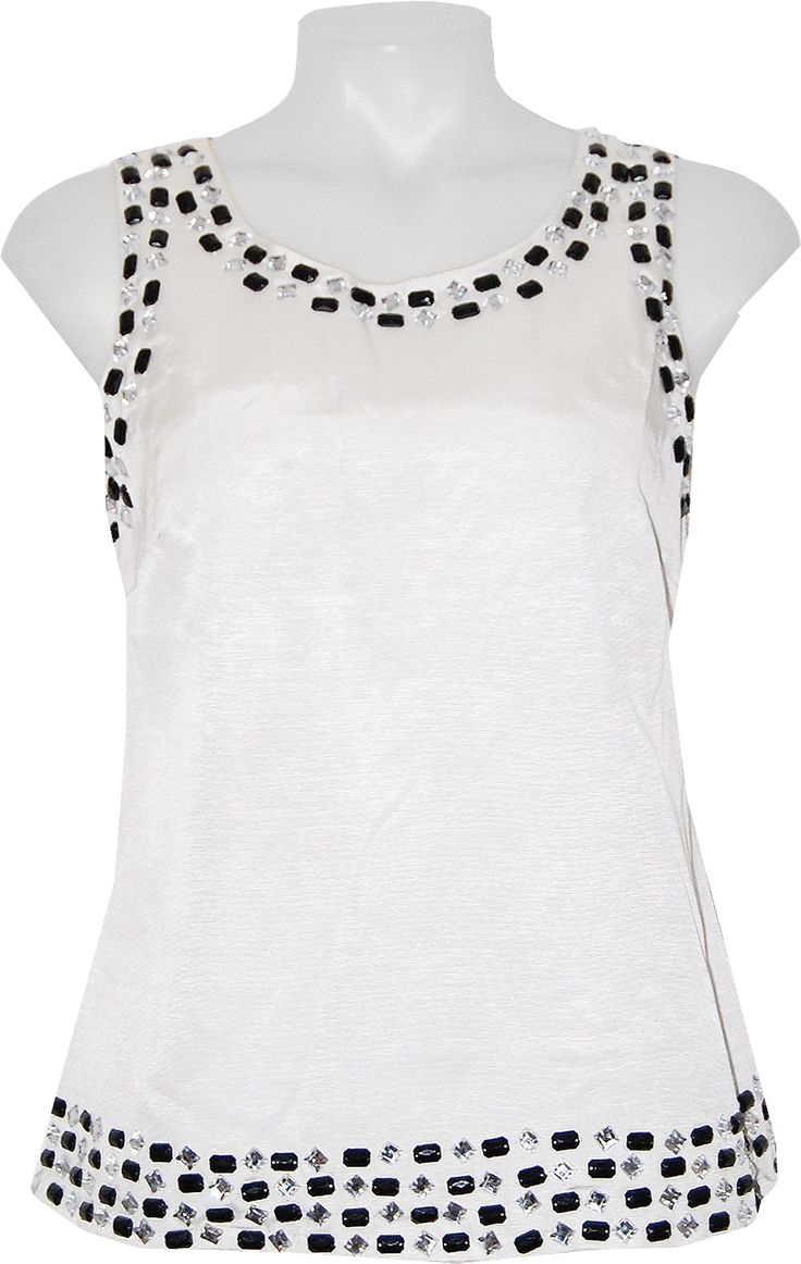Julie Brown Starr Top Ivory - Island Trends