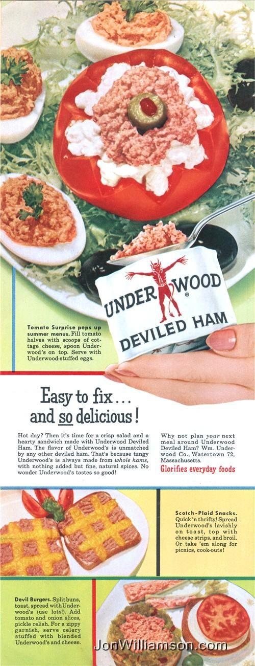 Tomato Surprise!  A Surprise Indeed!  (Underwood Deviled Ham, 1955)