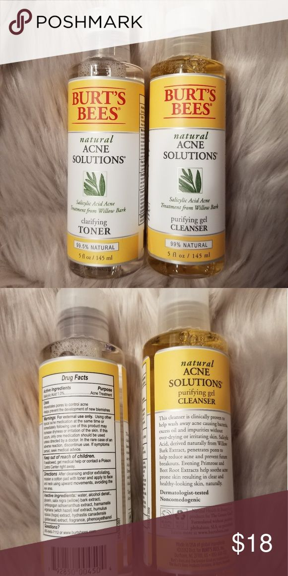Burt'sBees natural acne solutions toner&cleans…