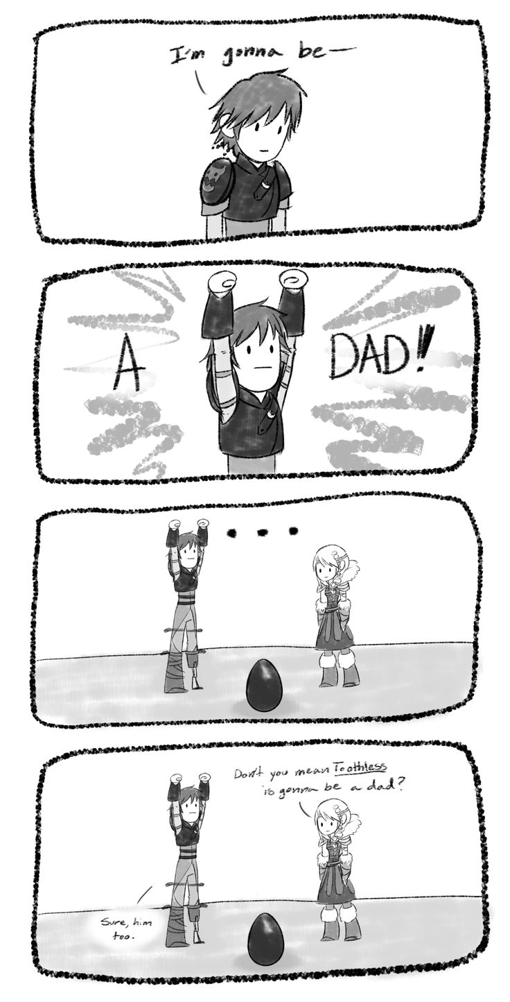Lol I think hiccup would be like the crazy uncle thats more like a dad XD