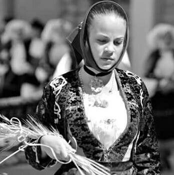 Costume di Orune alla Cavalcata di Sassari( 2016)