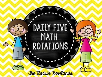 This resource includes a master schedule of each component of a Daily 5 Math lesson- warm up, whole group, 5 math rotations, and a closing. Included is schedule cards for each rotation for four groups. The daily 5 math rotations are1. Math by Myself2.