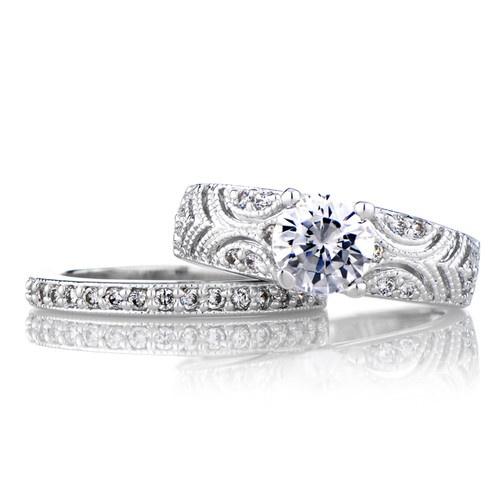 #Filigree #WeddingRingSet Size 7 Only