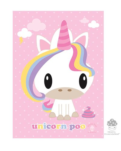 Brand New! #BoredInc Magical Unicorn Poo 5x7 Print! $6