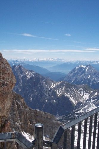 Zugspitze, Germany.  The tallest mountain in Germany, 9,709 ft. above sea level.