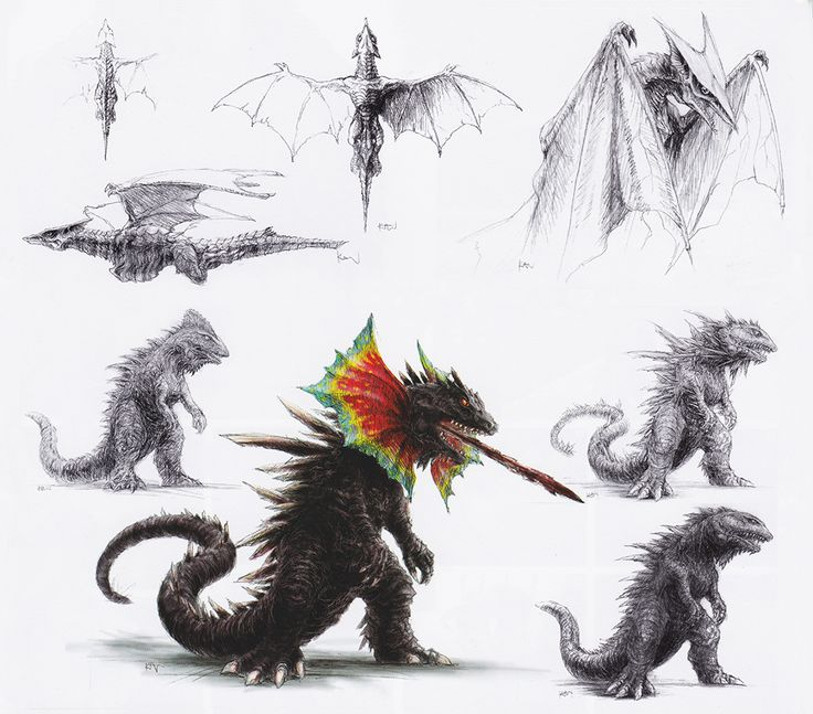Expanded Concepts For 'Gamera: The Brave', Featuring Zedus