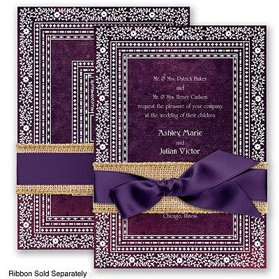 Moroccan Mystery - Clover Green - Wedding Invitation, Floral border at Invitations By David's Bridal