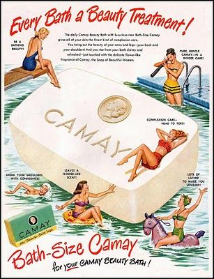 Camay Soap-The only soap my mother used for bathing and for facial care. She swore it kept her skin looking so youthful.  Lordy, do I remember this~
