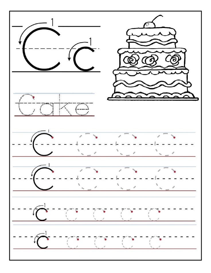 129 best kids activity alphabet images on pinterest crafts for printable letter c tracing worksheets for preschool printable coloring pages for kids spiritdancerdesigns Images